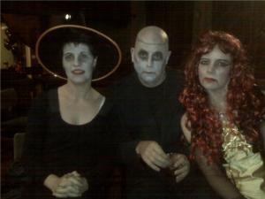 And I hardly had any make-up on...