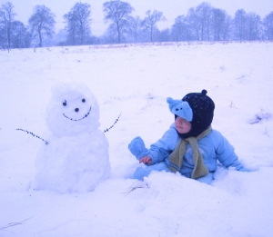 Hardy Hal and snowtoddler