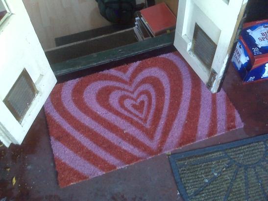 Love bade me enter...